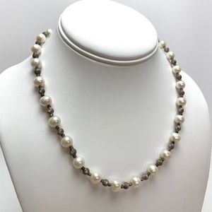 STERLING SILVER 925 Natural Pearl Necklace 26.60